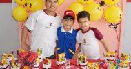 Divid comemorou 8 anos com seus coleguinhas de sala do Colégio o Saber de Itabaiana dia 18/05/2017