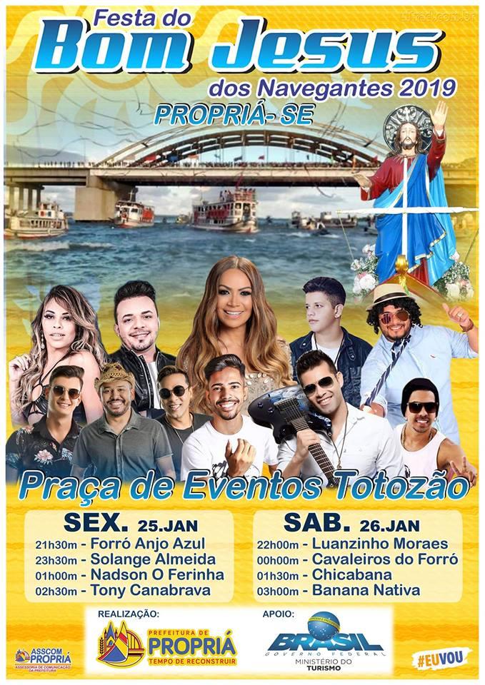 06 25 e 26-01-2019 Festa do Bom Jesus dos Navegantes 2019 em Propriá-SE