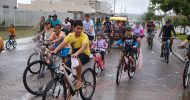 2º Passeio Ciclístico do Colégio Monteiro Lobato – Pedalando com o Papai, em Itabaiana-SE, dia 11-08-2019.