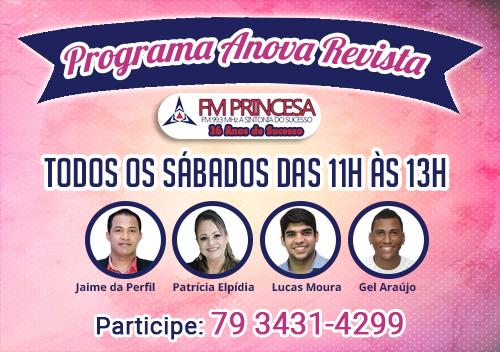 Programa Anova Revista na FM Princesa 99.3