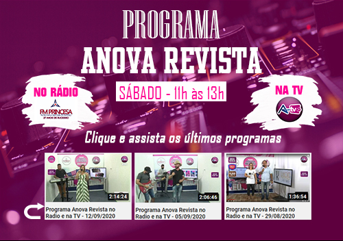 Programa Anova Revista no Rádio e na TV