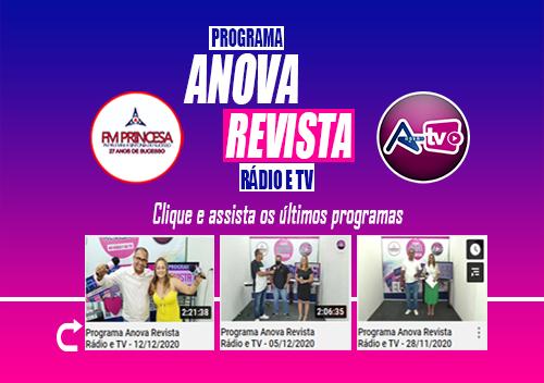 Programa Anova Revista rádio e TV